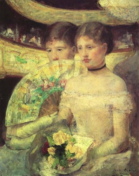 O Loge - Pinturas de Mary Cassatt | Mulheres na pintura