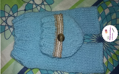 Calça de tricô recém nascido