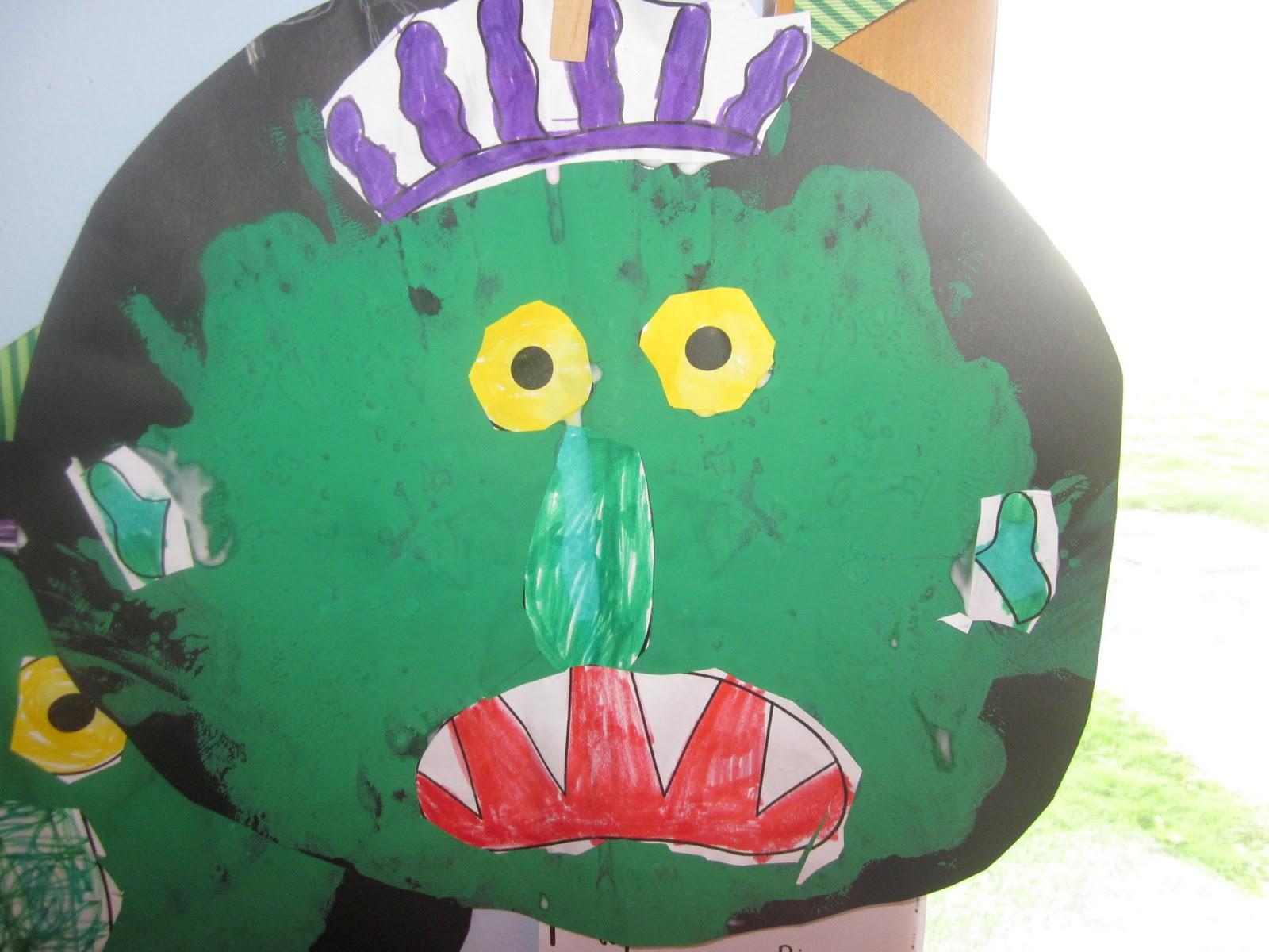 Mrs Miner S Kindergarten Monkey Business Go Away Big Green Monster Activity And Freebie