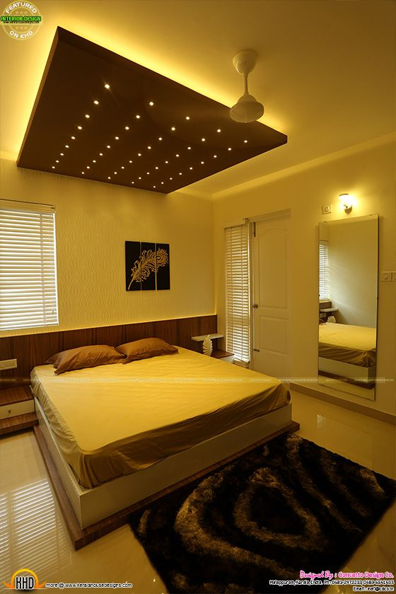 Beautiful bedroom with false roof