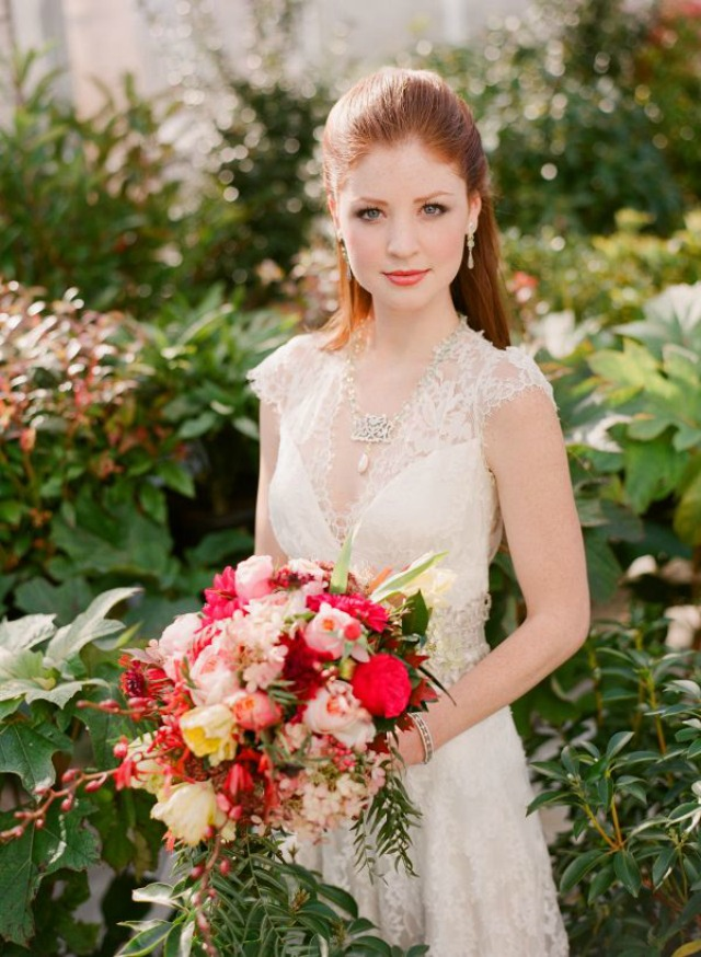 Silk Whites Which Is To Say Off Or Muted Can Work For The Bride With Red Hair As Long They Stay Fairly Matte
