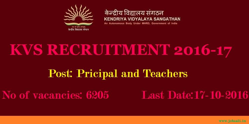 Kendriya Vidyalaya Recruitment, Teaching Jobs, KVS Vacancy