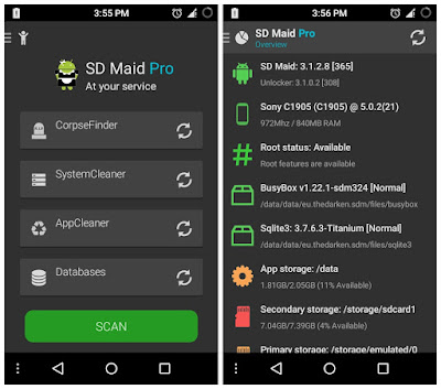 تسريع هاتف الاندرويد, كيفية تسريع هاتفك, طريقة تسريع هاتفك الاندرويد, تسريع هاتفك, تسريع هاتفك و الرفع من مردوديته, إزالة الملفات الضارة والمخلفات, تطبيق SD Maid- System Cleaning Tool, تسريع الاندرويد بالروت