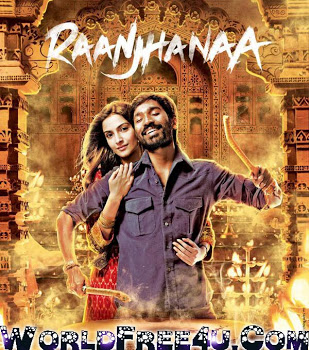 Poster Of Bollywood Movie Raanjhanaa (2013) 300MB Compressed Small Size Pc Movie Free Download worldfree4u.com