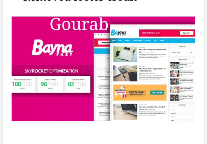 Bayna Fast Loading Blogger Template ~ Gourab Design