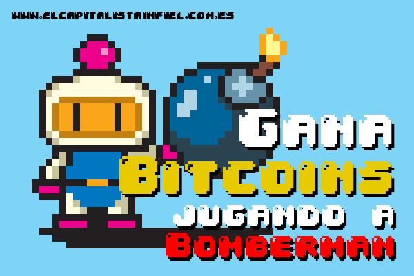 bitcoins, satoshis, bomberman, juego, ganar bitcoins