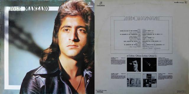 JOSÉ MANZANO EN SU PRIMER Y ÚNICO ÁLBUM LP COLUMBIA 1977