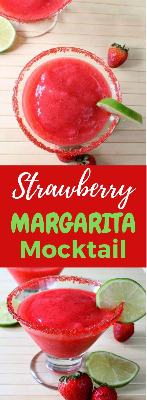 STRAWBERRY MARGARITA MOCKTAIL #Mocktail #Drink