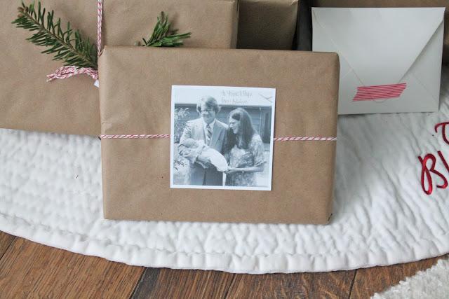 easy Christmas gift wrap idea via www.julieblanner.com