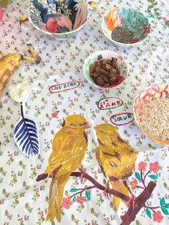 Receta: Cuadrados de banana. Sin harina, azúcar ni huevos. www.soyunmix.com