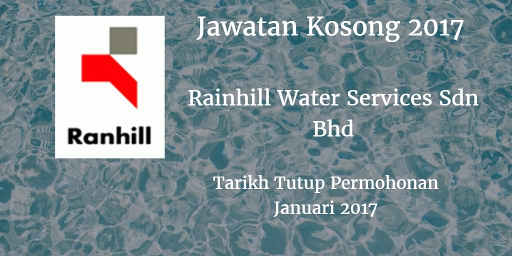Jawatan Kosong Ranhil Water Services SDN BHD. Januari 2017
