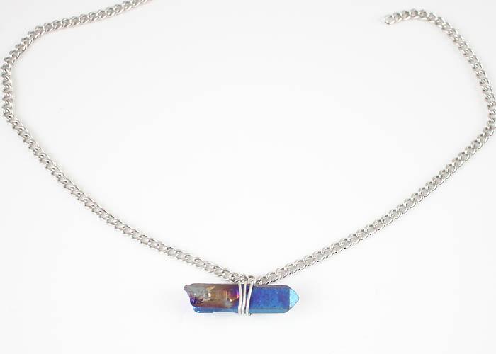 DIY Captured Crystal Necklace
