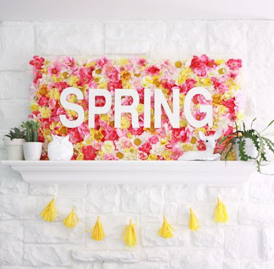 Ideas of spring decoration for the original house that is fashionable