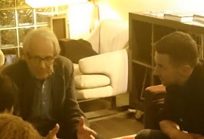 Ken Loach et olivier Besancenot à l'inconnu du ciné club
