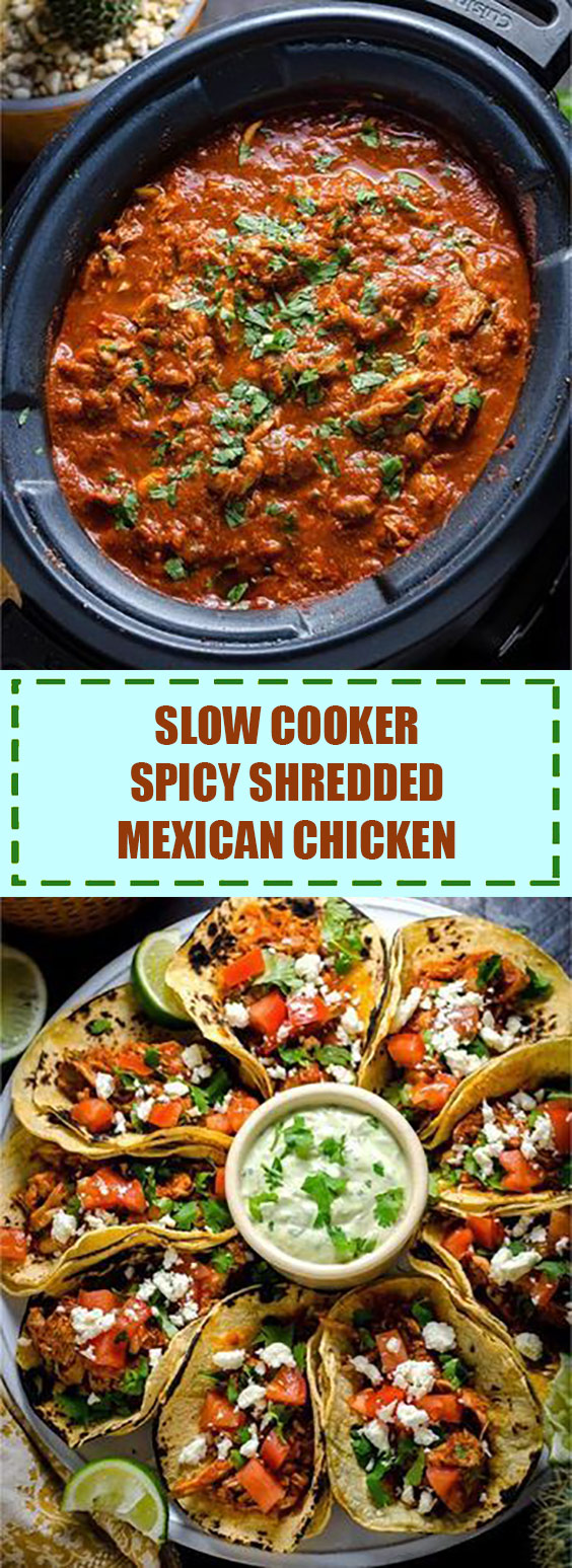 Slow Cooker Spicy Shredded Mexican Chicken