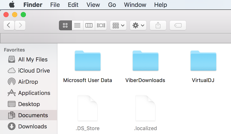 Hide hidden Files on Mac