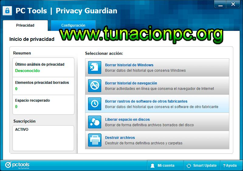 PC Tools Privacy Guardian, Elimina archivos temporales