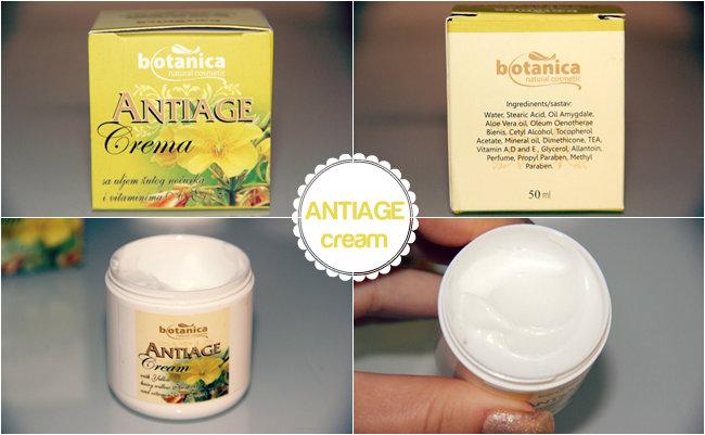 Botanica antiage krema za lice za bore sa uljem zutog nocurka