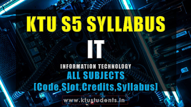 KTU S5 IT information technology syllabus