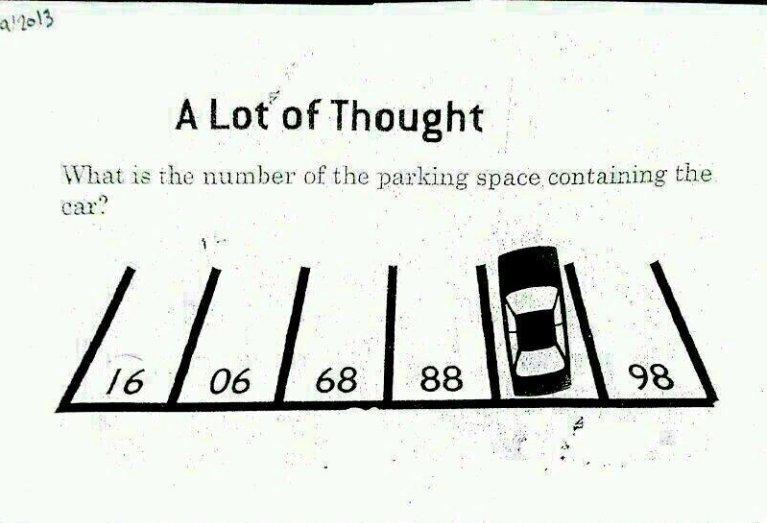 Logical Questions: Car Park Puzzle