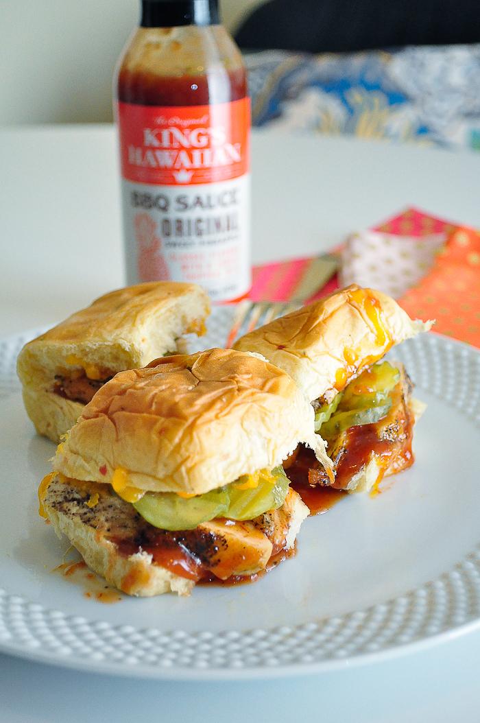 King's Hawaiian BBQ Chicken Jalapeno Cheddar Slider Recipe