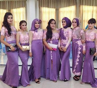 Baju Model Kebaya Brokat Tile Satin Cantik Elegan
