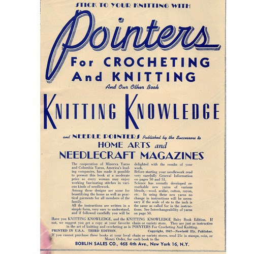Pointers for Crochet and Knitting, Knitting Knowledge
