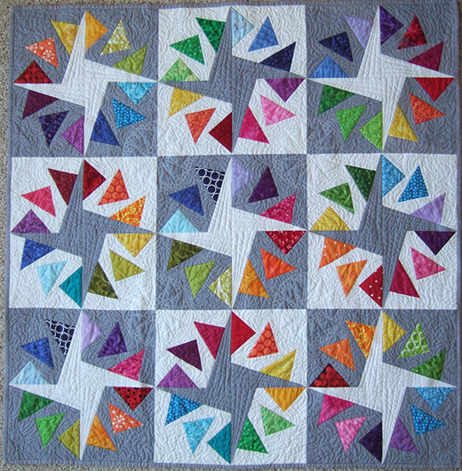 Quilt Circle Geese Patchwork Pattern