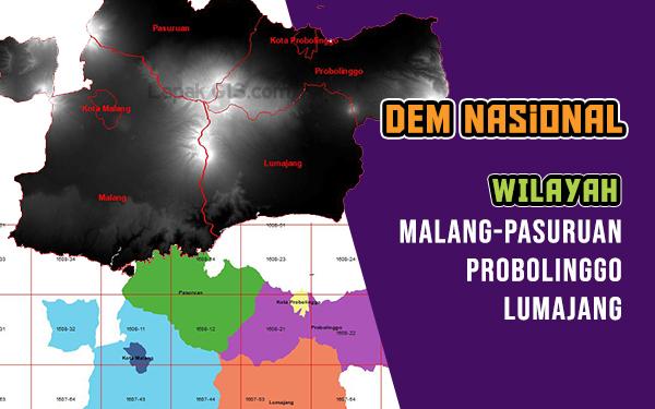 DEM Nasional Wilayah Malang-Pasuruan-Probolinggo-Lumajang