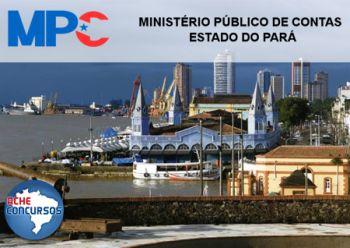 Inscrições prorrogadas do concurso, Ministério Público de Contas do Pará