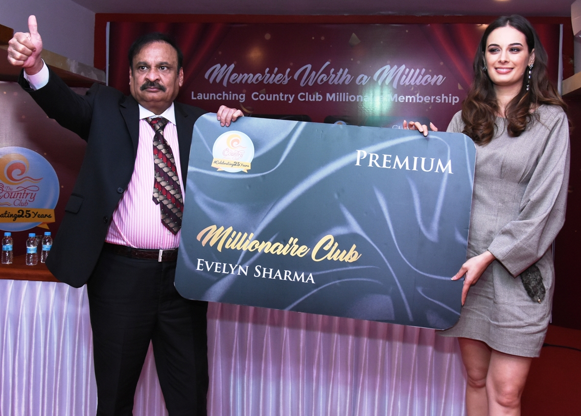 Actress EVELYN SHARMA unveiled Country Club's new