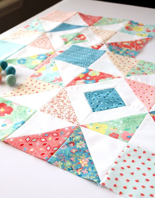 Shine Bright quilt blocks found on A Bright Corner