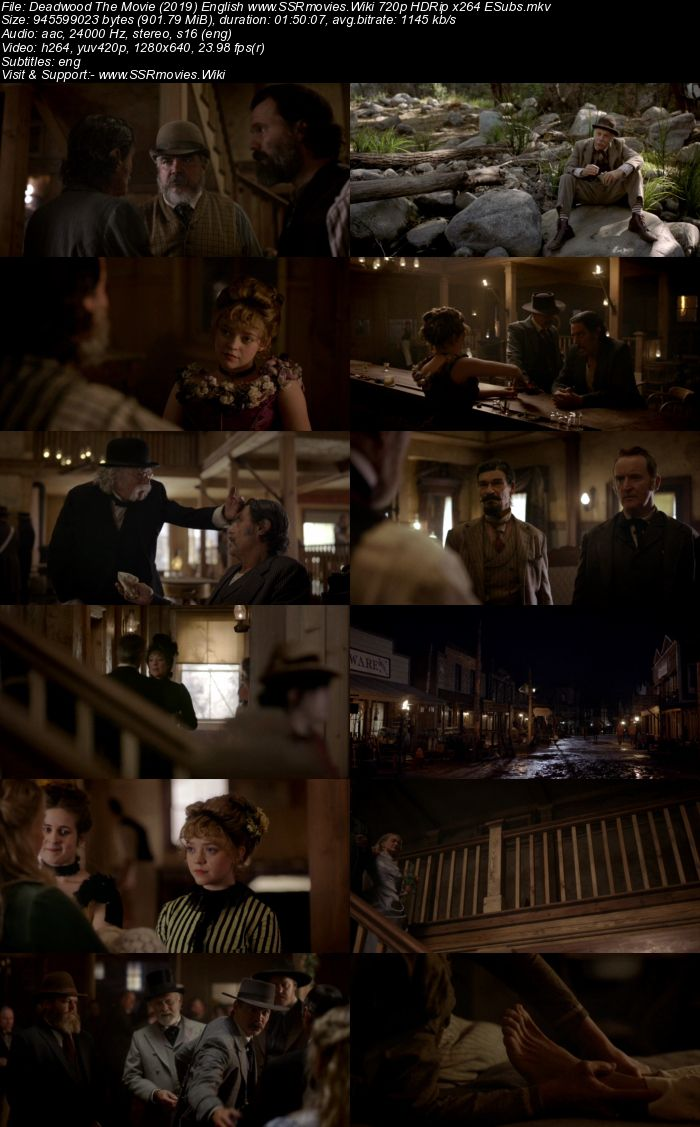 Deadwood The Movie (2019) English 720p HDRip x264 900MB ESubs Movie Download