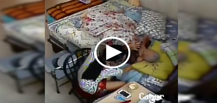 Bibik Kurang Ajar Dera Ibu Majikan Berusia 96 Tahun Berjaya Dirakam oleh CCTV