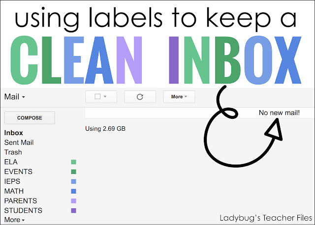 using labels to keep a clean inbox