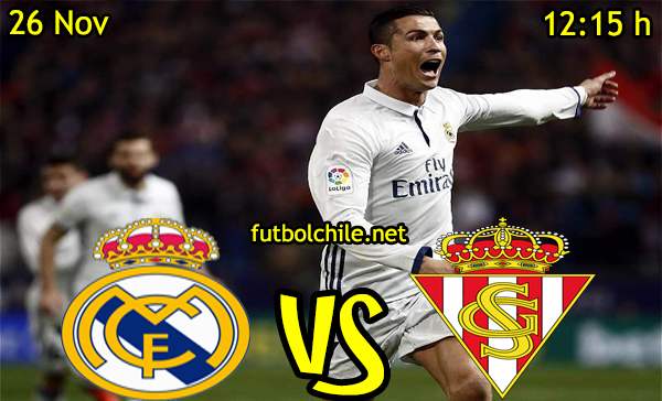 Ver stream hd youtube facebook movil android ios iphone table ipad windows mac linux resultado en vivo, online:  Real Madrid vs Sporting Gijón