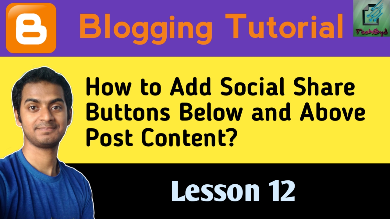 How to Add Social Share Buttons Below and Above Post in Blogger?
