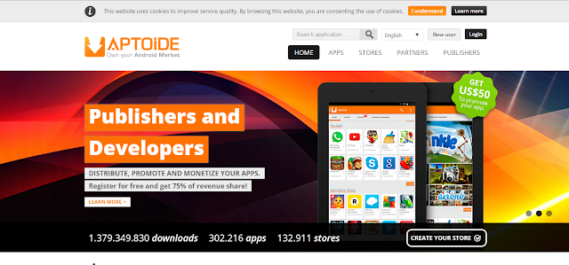 Publishers and developers of Aptoide Apps