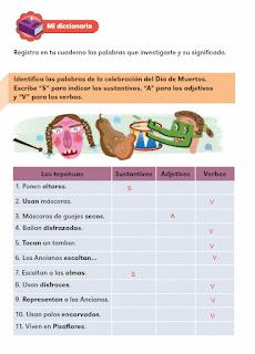 Respuestas Apoyo Primaria Español 2do grado Bloque 2 lección 10 Las palabras del texto informativo