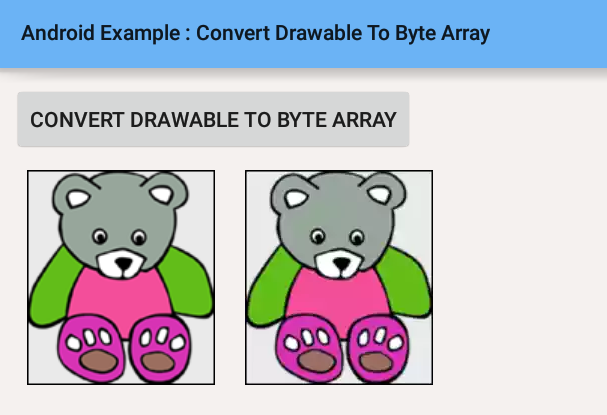 android - How to convert drawable to byte array