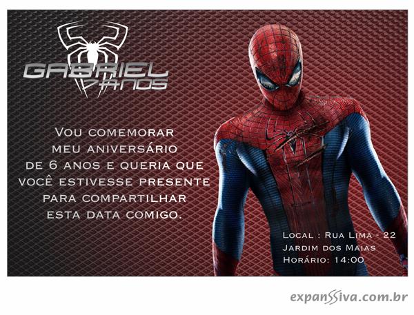 Convites de Aniversário do Espetacular Homem Aranha