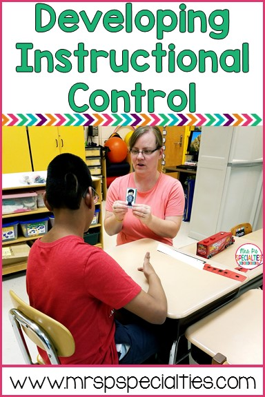 Developing instructional control with students in special education will help make learning smoother and more effective. Here are tips on establishing a bond and instructional control with your students.