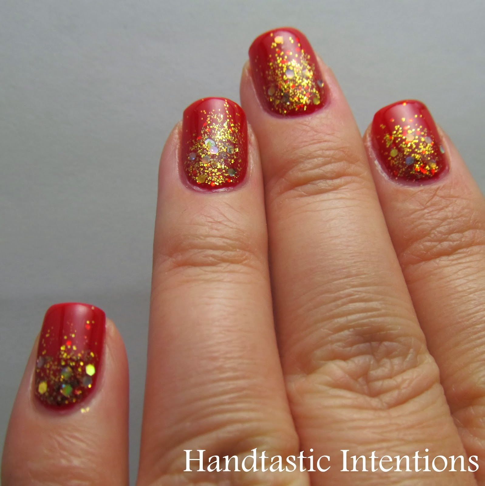 Simple Nail Art For Chinese New Year: Handtastic Intentions: Nail Art: Chinese New Year Nails