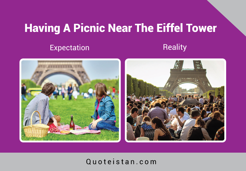 Expectation Vs Reality: Having A Picnic Near The Eiffel Tower