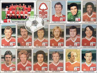 Panini England Football stickers 79 Nottingham forest