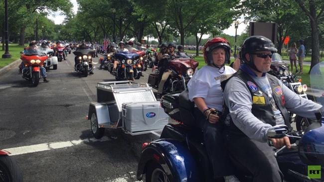 Donald Trump addresses largest gathering of bikers on Memorial Day