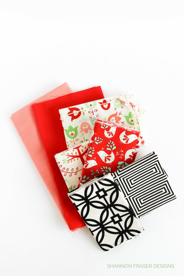Holiday Modern Aztec Quilt Table Runner Fabrics   Q4 2018 FAL   Shannon Fraser Designs