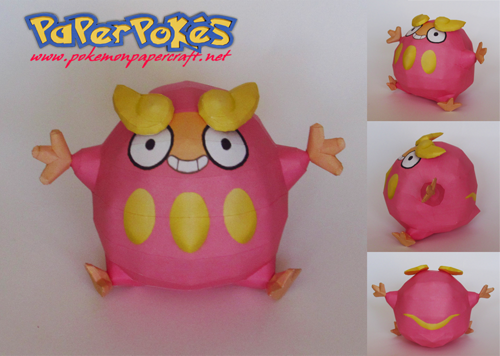 Pokemon Darumaka Papercraft