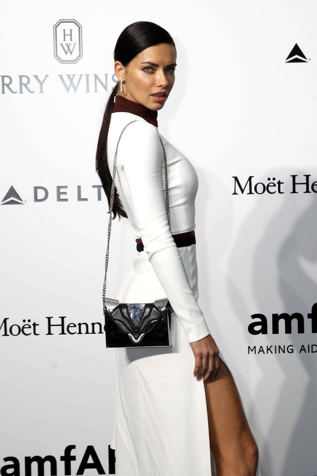 Adriana Lima at amFAR Gala in Milan 2016