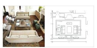 ukuran ruangan sofa